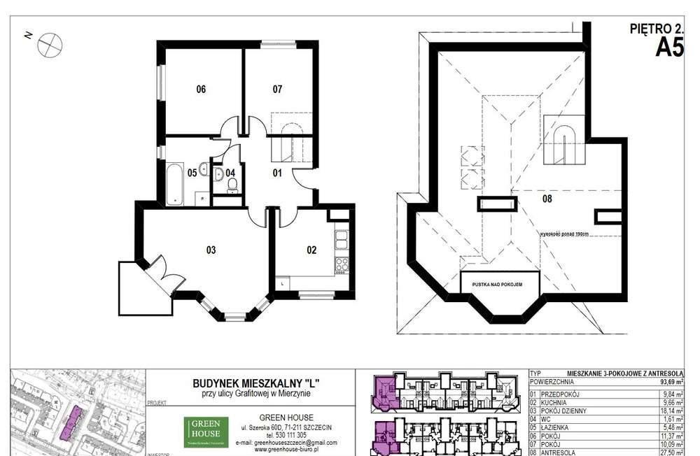 Mieszkanie na sprzedaż Mierzyn, Grafitowa  94m2 Foto 1