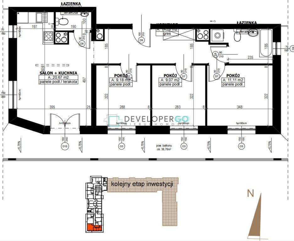 Mieszkanie trzypokojowe na sprzedaż Białystok, Antoniuk  50m2 Foto 11