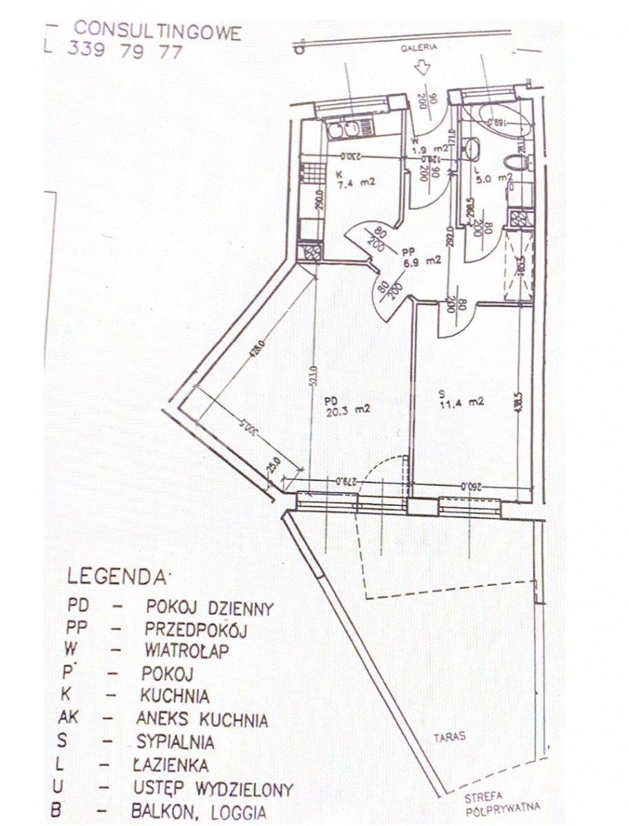 Mieszkanie dwupokojowe na sprzedaż Wrocław, Gądów Mały, Jerzego Bajana  56m2 Foto 10