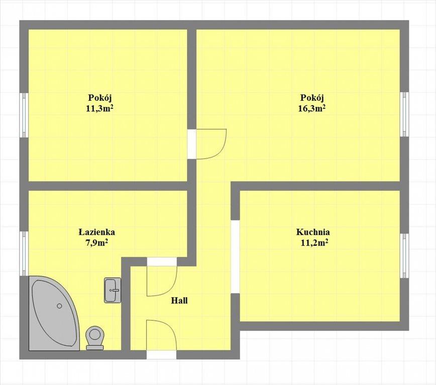 Mieszkanie dwupokojowe na sprzedaż Nowy Sącz, Lwowska  52m2 Foto 11