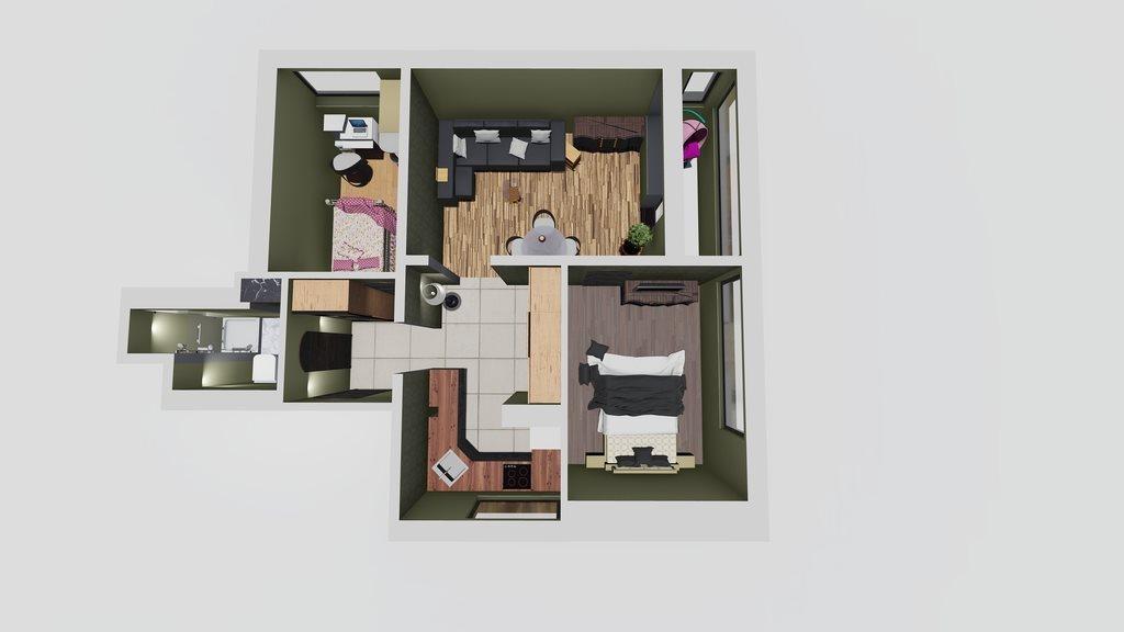 Mieszkanie trzypokojowe na sprzedaż Warszawa, Mokotów, Dolny Mokotów, Bernardyńska 18  55m2 Foto 3