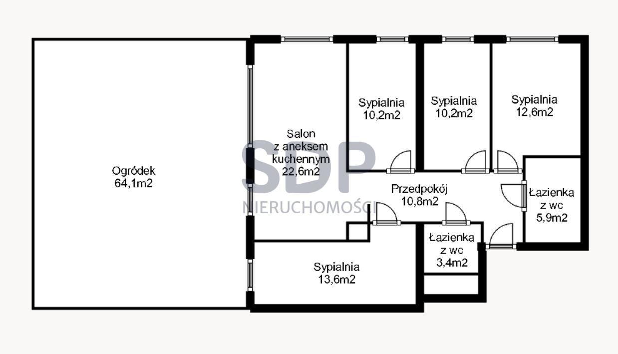 Mieszkanie na sprzedaż Wrocław, Fabryczna, Grabiszyn  89m2 Foto 2