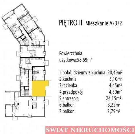 Mieszkanie dwupokojowe na sprzedaż Siechnice  59m2 Foto 4