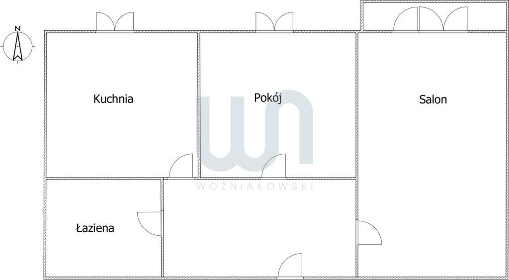 Mieszkanie dwupokojowe na sprzedaż Częstochowa, Północ  51m2 Foto 8