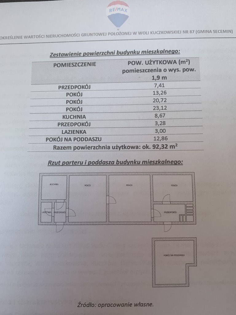 Dom na sprzedaż Wola Kuczkowska  2200m2 Foto 12