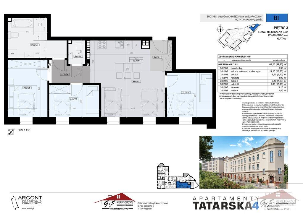 Mieszkanie czteropokojowe  na sprzedaż Przemyśl, Tatarska  63m2 Foto 8