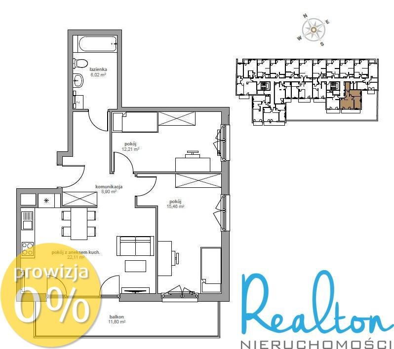 Mieszkanie trzypokojowe na sprzedaż Katowice, Śródmieście, Opolska  65m2 Foto 3