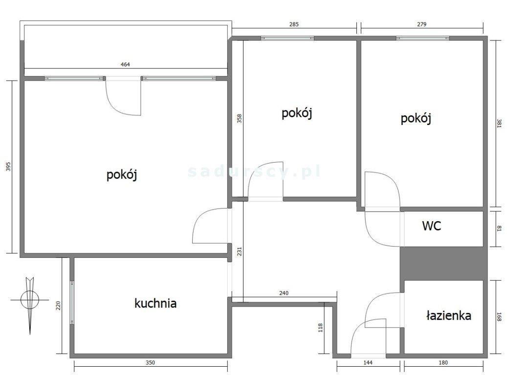 Mieszkanie trzypokojowe na sprzedaż Kraków, Grzegórzki, Grzegórzki, Sądowa  63m2 Foto 3