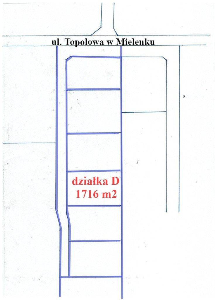 Działka inna na sprzedaż Mielenko  1716m2 Foto 2