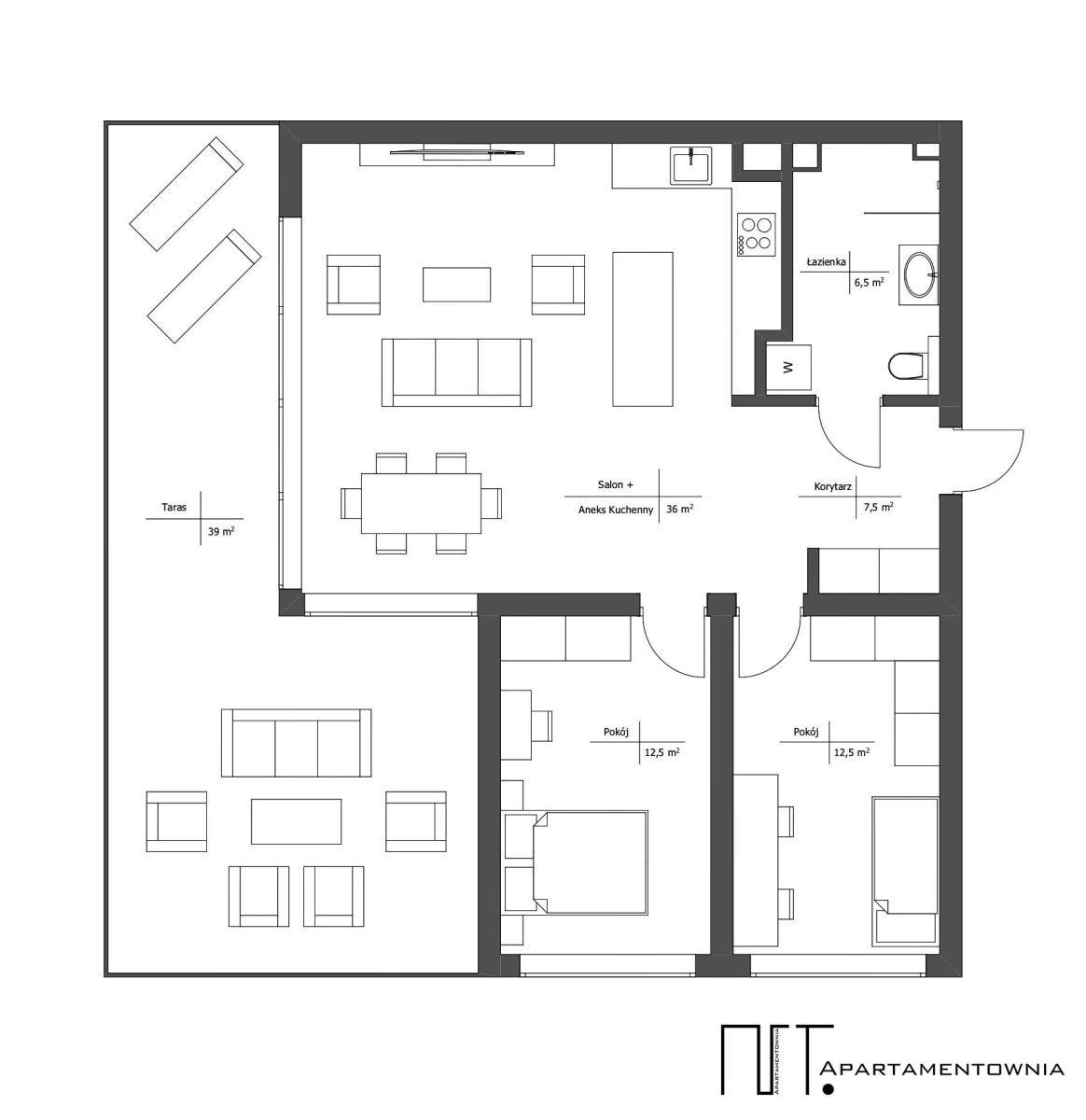 Mieszkanie trzypokojowe na sprzedaż Tarnowo Podgórne, Mediolańska  75m2 Foto 12
