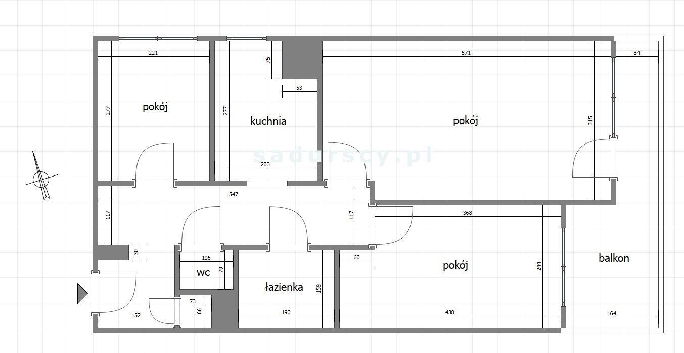 Mieszkanie trzypokojowe na sprzedaż Kraków, Krowodrza, Juliusza Lea  52m2 Foto 5