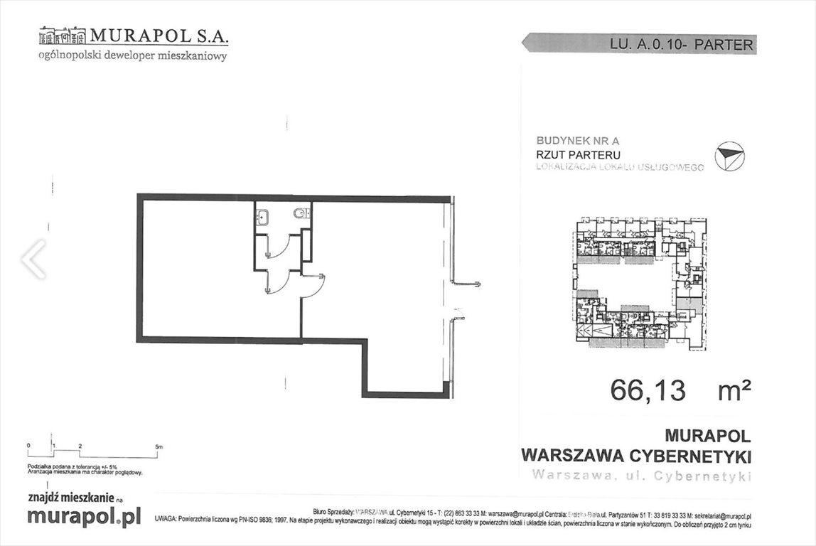 Lokal użytkowy na wynajem Warszawa, Mokotów, ul. Cybernetyki  66m2 Foto 2