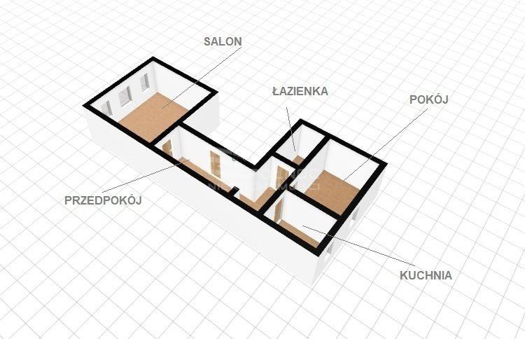 Mieszkanie dwupokojowe na sprzedaż Kłodzko  52m2 Foto 2