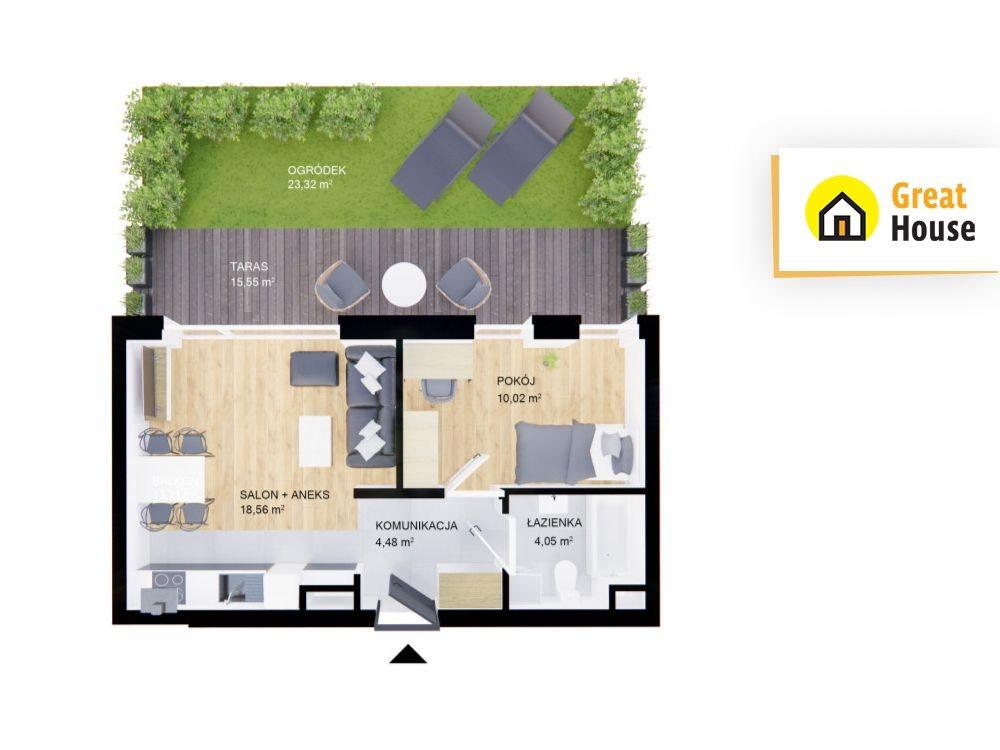 Mieszkanie dwupokojowe na sprzedaż Kielce, Przelot  37m2 Foto 1