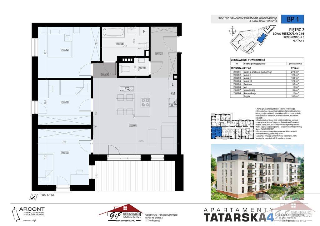 Mieszkanie czteropokojowe  na sprzedaż Przemyśl, Tatarska  78m2 Foto 8