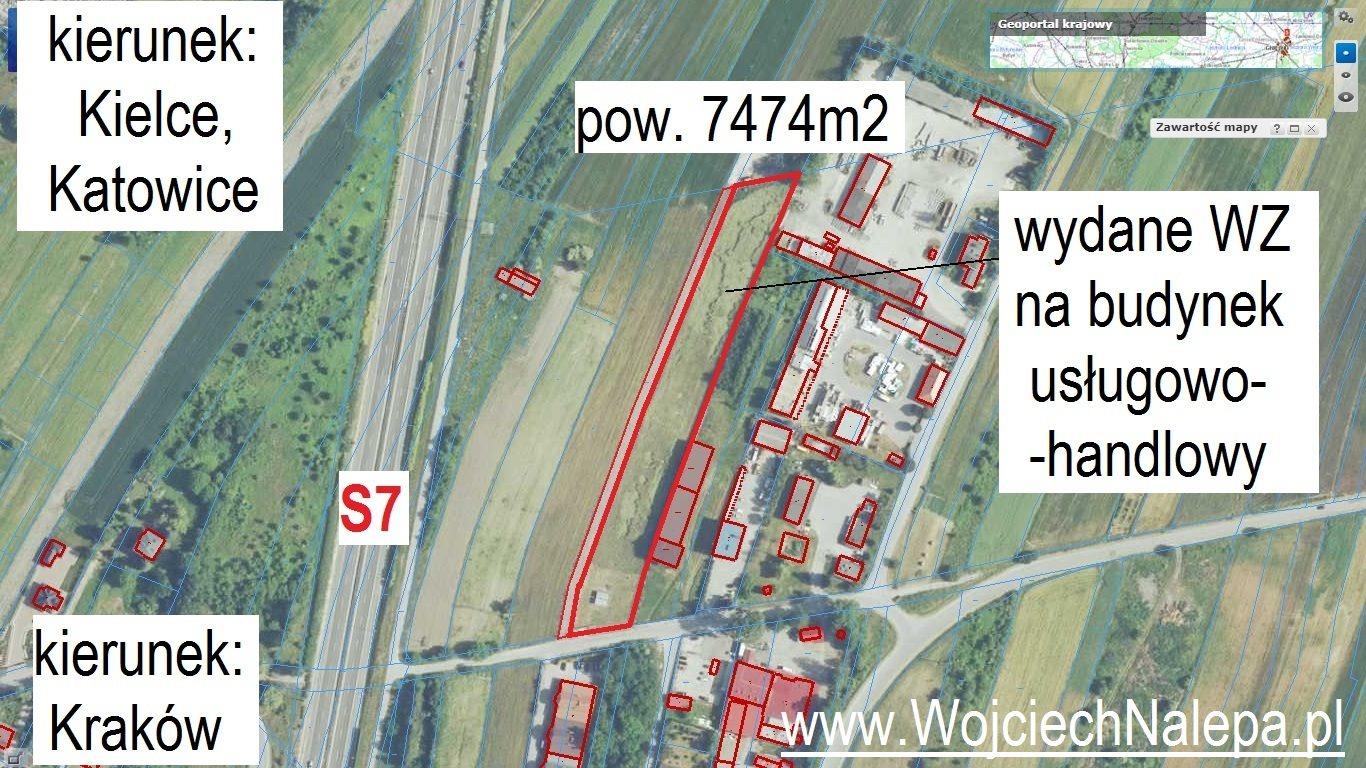 Działka komercyjna na sprzedaż Jędrzejów  7474m2 Foto 12