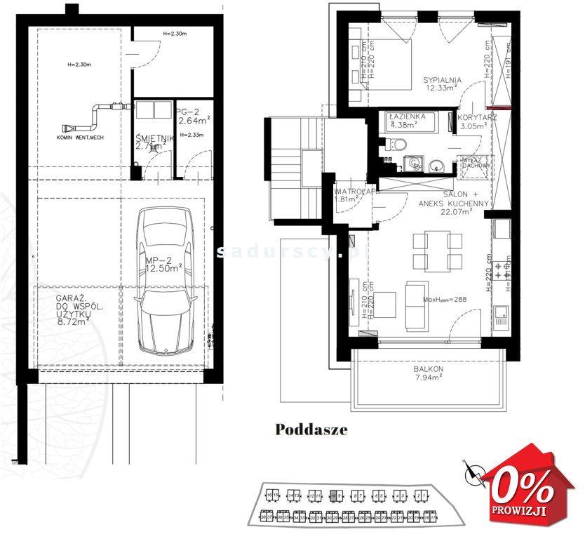 Mieszkanie dwupokojowe na sprzedaż Kraków, Bronowice, Bronowice Wielkie, Pasternik - okolice  44m2 Foto 3