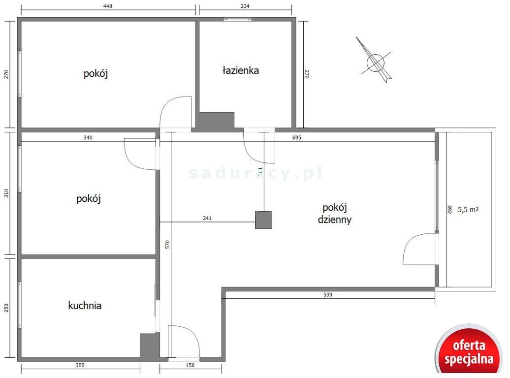 Mieszkanie trzypokojowe na sprzedaż Kraków, Dębniki, Ruczaj, Kobierzyńska  68m2 Foto 3