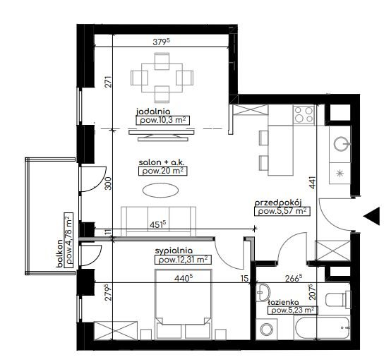 Mieszkanie trzypokojowe na sprzedaż Lublin, Węglinek, Kwarcowa  53m2 Foto 1