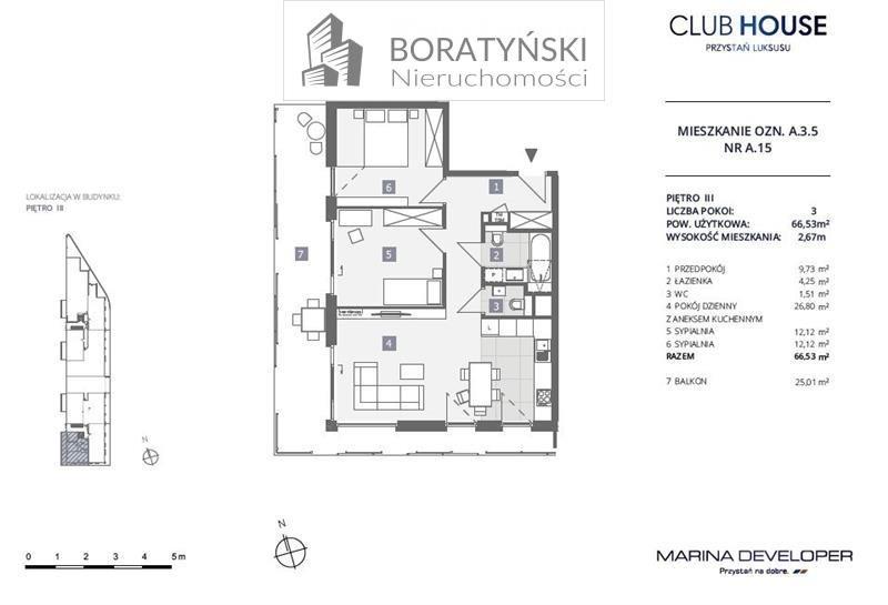 Mieszkanie trzypokojowe na sprzedaż Szczecin, Dąbie, Dąbie, Przestrzenna  67m2 Foto 4