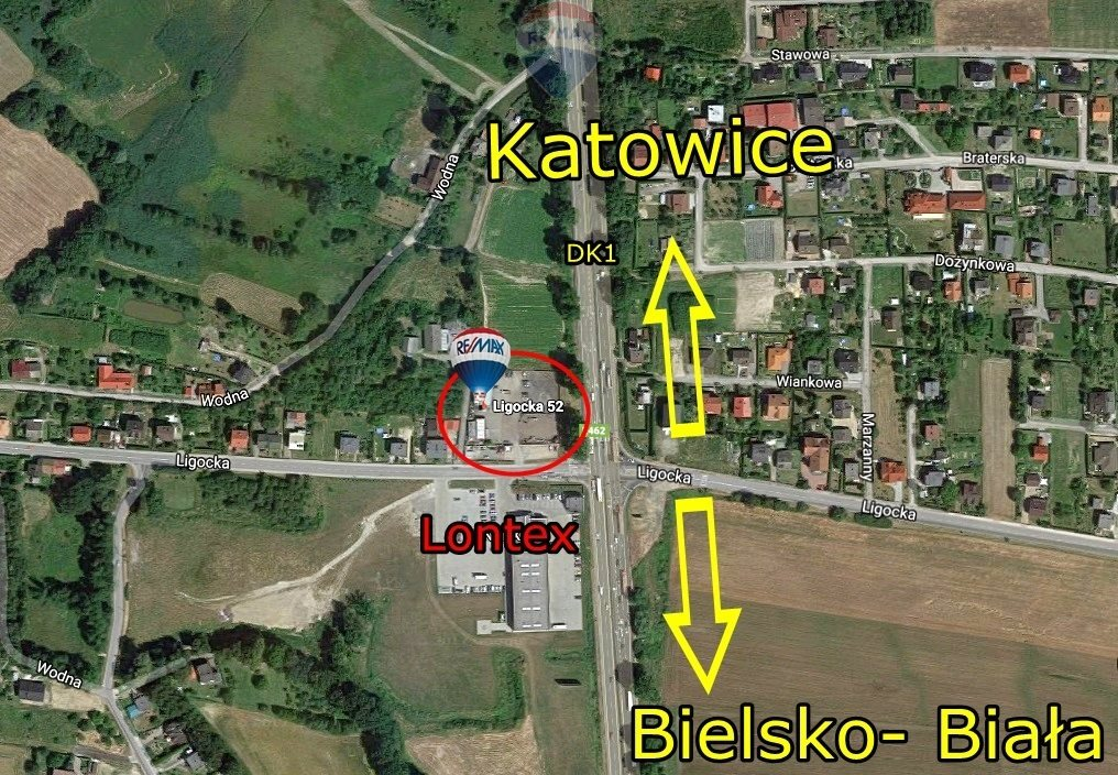 Działka komercyjna pod dzierżawę Czechowice-Dziedzice  1000m2 Foto 1