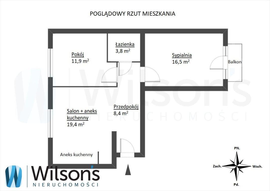 Mieszkanie trzypokojowe na sprzedaż Warszawa, Włochy Stare Włochy, Bolesława Chrobrego  60m2 Foto 2