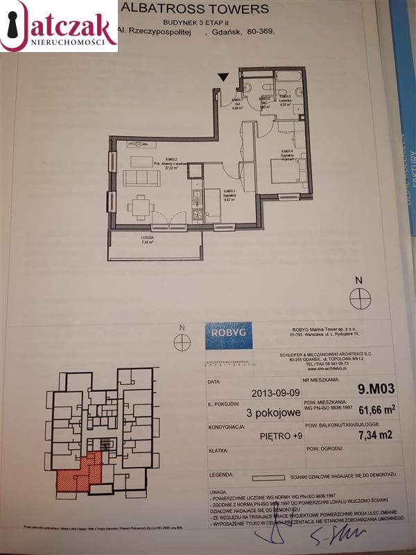 Mieszkanie trzypokojowe na wynajem Gdańsk, Przymorze, ALBATROSS TOWERS, RZECZYPOSPOLITEJ  62m2 Foto 5