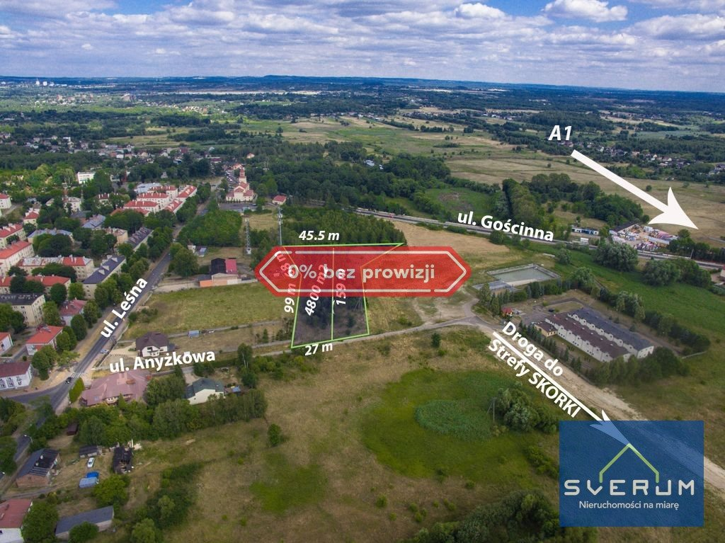 Działka przemysłowo-handlowa na sprzedaż Częstochowa, Dźbów, Anyżkowa  4800m2 Foto 1
