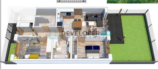 Mieszkanie trzypokojowe na sprzedaż Porosły  63m2 Foto 2