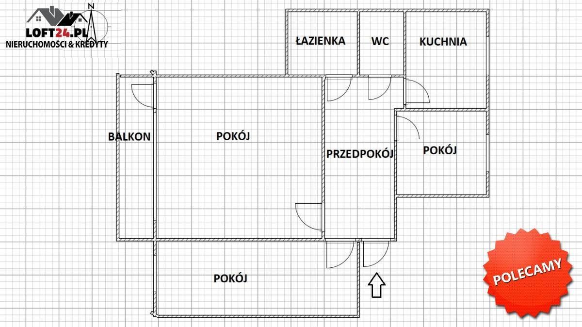Mieszkanie trzypokojowe na sprzedaż Lubin, Przylesie, Krucza  64m2 Foto 6