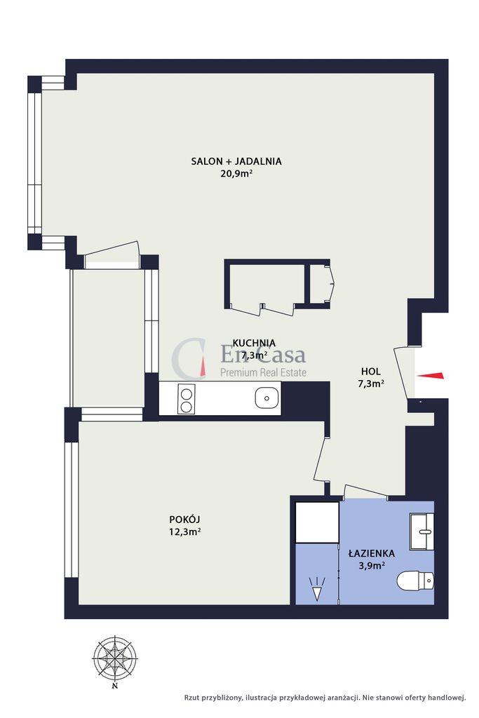 Mieszkanie dwupokojowe na sprzedaż Warszawa, Wola, Krochmalna  50m2 Foto 8