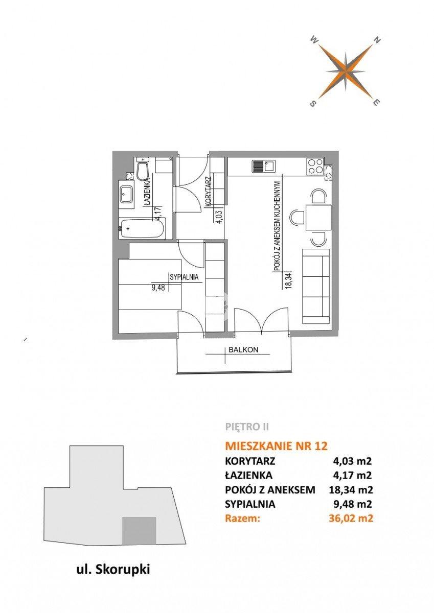 Mieszkanie dwupokojowe na sprzedaż Bydgoszcz, Szwederowo, ks. Ignacego Skorupki  36m2 Foto 8