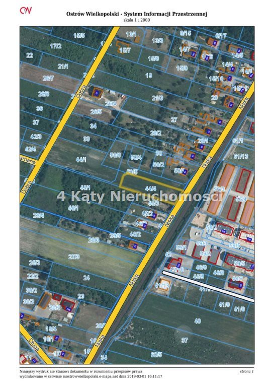 Działka budowlana na sprzedaż Ostrów Wielkopolski, Zębców  2142m2 Foto 4