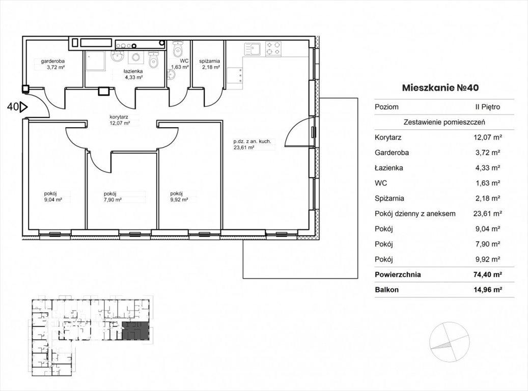 Mieszkanie trzypokojowe na sprzedaż Bydgoszcz, Okole, Garbary  48m2 Foto 6
