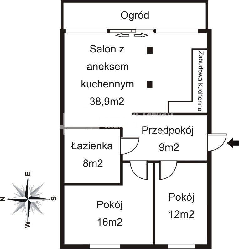 Mieszkanie trzypokojowe na wynajem Sopot, Władysława Łokietka  74m2 Foto 2