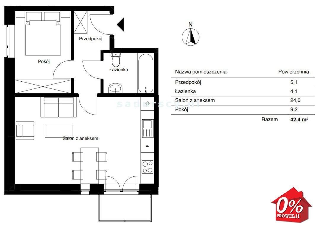 Mieszkanie dwupokojowe na sprzedaż Kraków, Bieżanów-Prokocim, Osiedle Złocień, Agatowa  42m2 Foto 3