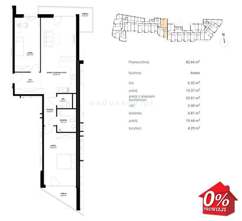 Mieszkanie trzypokojowe na sprzedaż Kraków, Prądnik Czerwony, Olsza, Lublańska - okolice  82m2 Foto 3