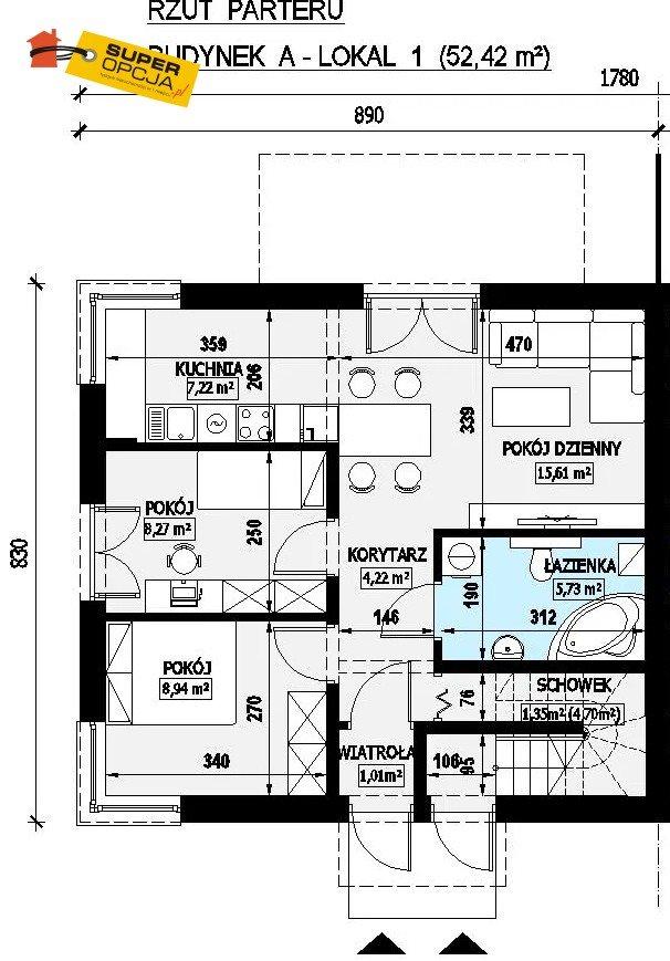 Mieszkanie trzypokojowe na sprzedaż Zielonki, Krakowskie Przedmieście  53m2 Foto 6