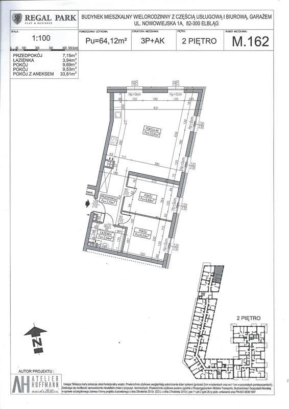 Mieszkanie trzypokojowe na sprzedaż Elbląg, Regal Park, Regal Park, Nowowiejska 1A  64m2 Foto 2