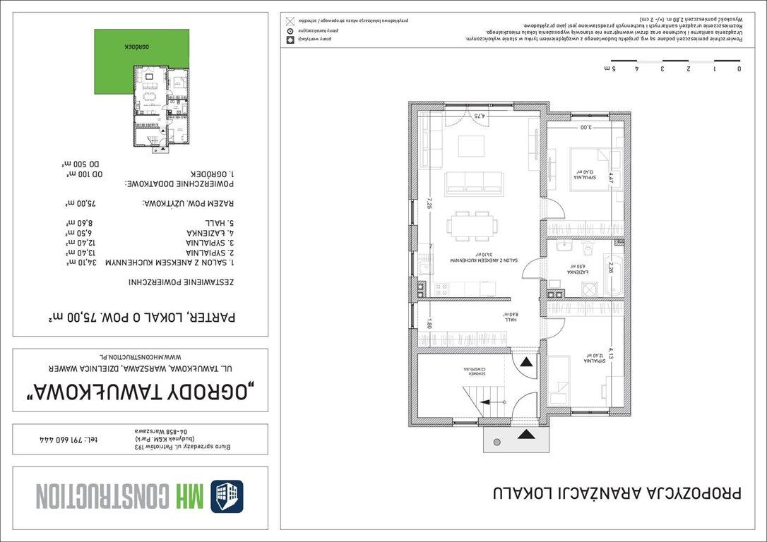 Mieszkanie czteropokojowe  na sprzedaż Warszawa, Wawer, Tawułkowa  75m2 Foto 6