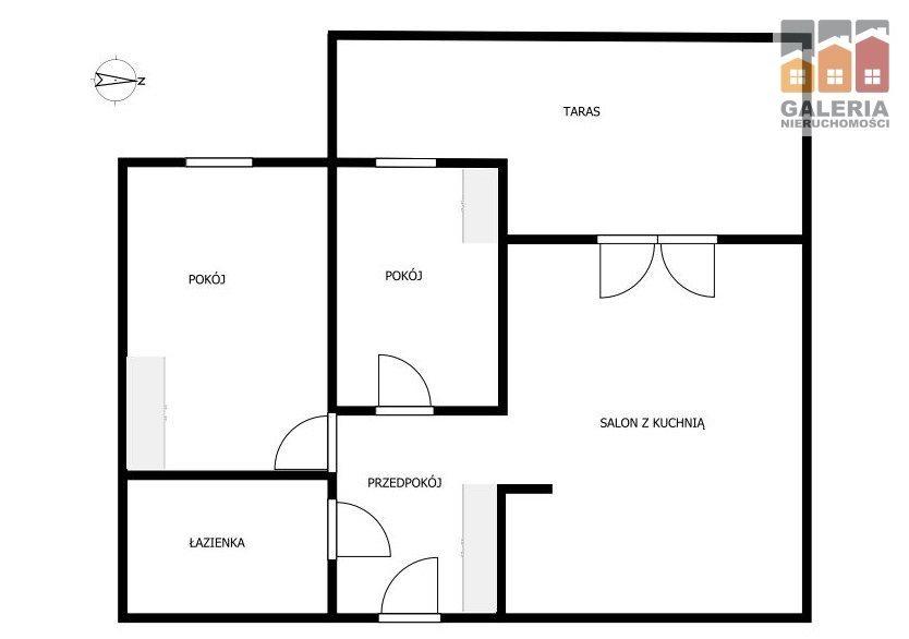 Mieszkanie trzypokojowe na sprzedaż Rzeszów, Architektów  56m2 Foto 9