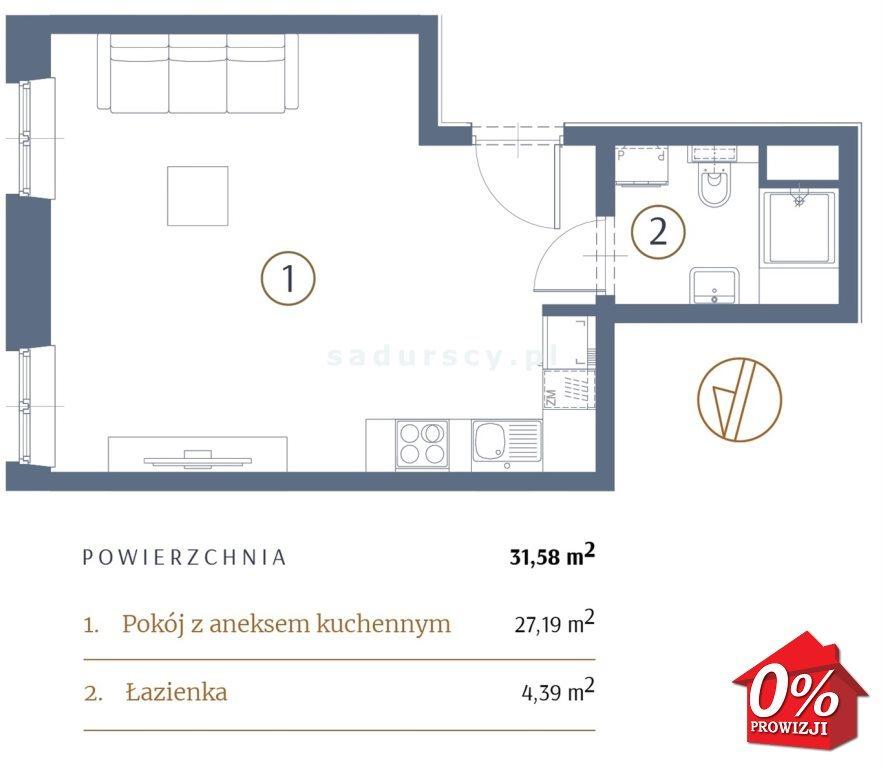 Kawalerka na sprzedaż Kraków, Stare Miasto, Kleparz, Sławkowska - okolice  32m2 Foto 3