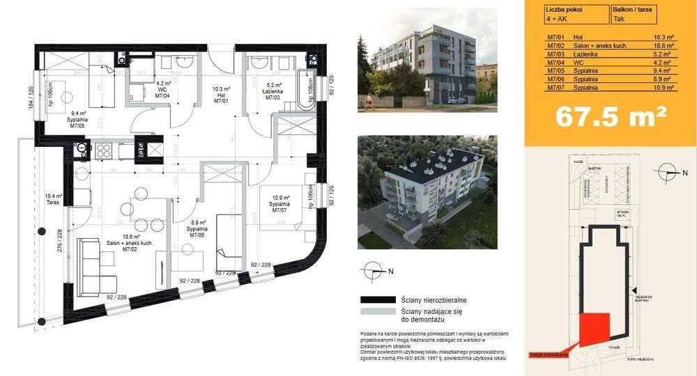 Mieszkanie czteropokojowe  na sprzedaż Poznań, Jeżyce, Piątkowska  67m2 Foto 9