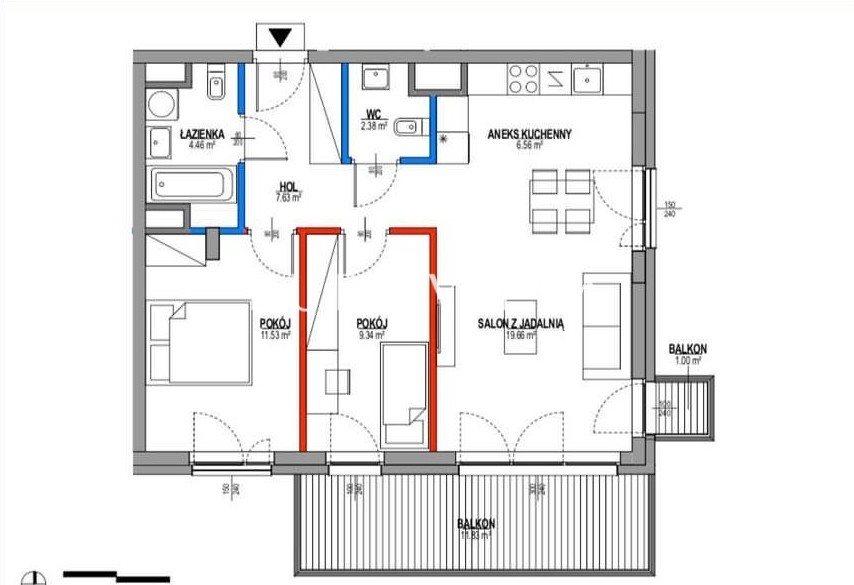 Mieszkanie trzypokojowe na sprzedaż Warszawa, Mokotów, Ukryty Raj  64m2 Foto 11