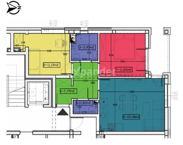 Mieszkanie trzypokojowe na sprzedaż Rzeszów, Kornela Makuszyńskiego  57m2 Foto 4