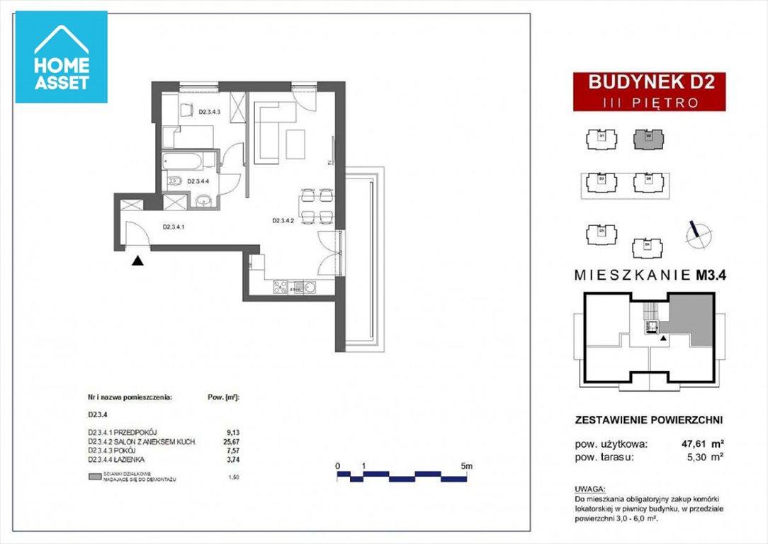 Mieszkanie dwupokojowe na sprzedaż Gdańsk, Kazimierza Wielkiego  48m2 Foto 5