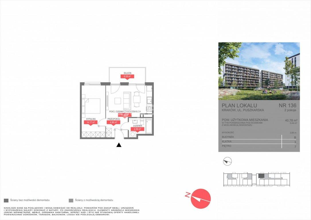 Mieszkanie dwupokojowe na sprzedaż Kraków, Bonarka, Puszkarska  41m2 Foto 5