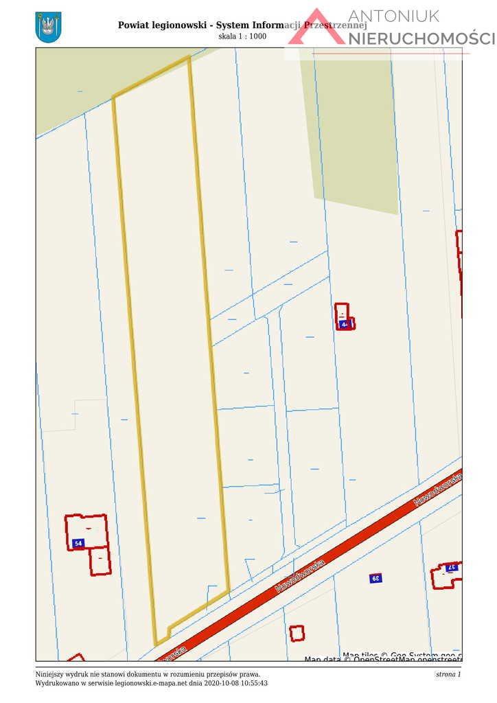 Działka budowlana na sprzedaż Olszewnica Nowa, Nowodworska  10509m2 Foto 1