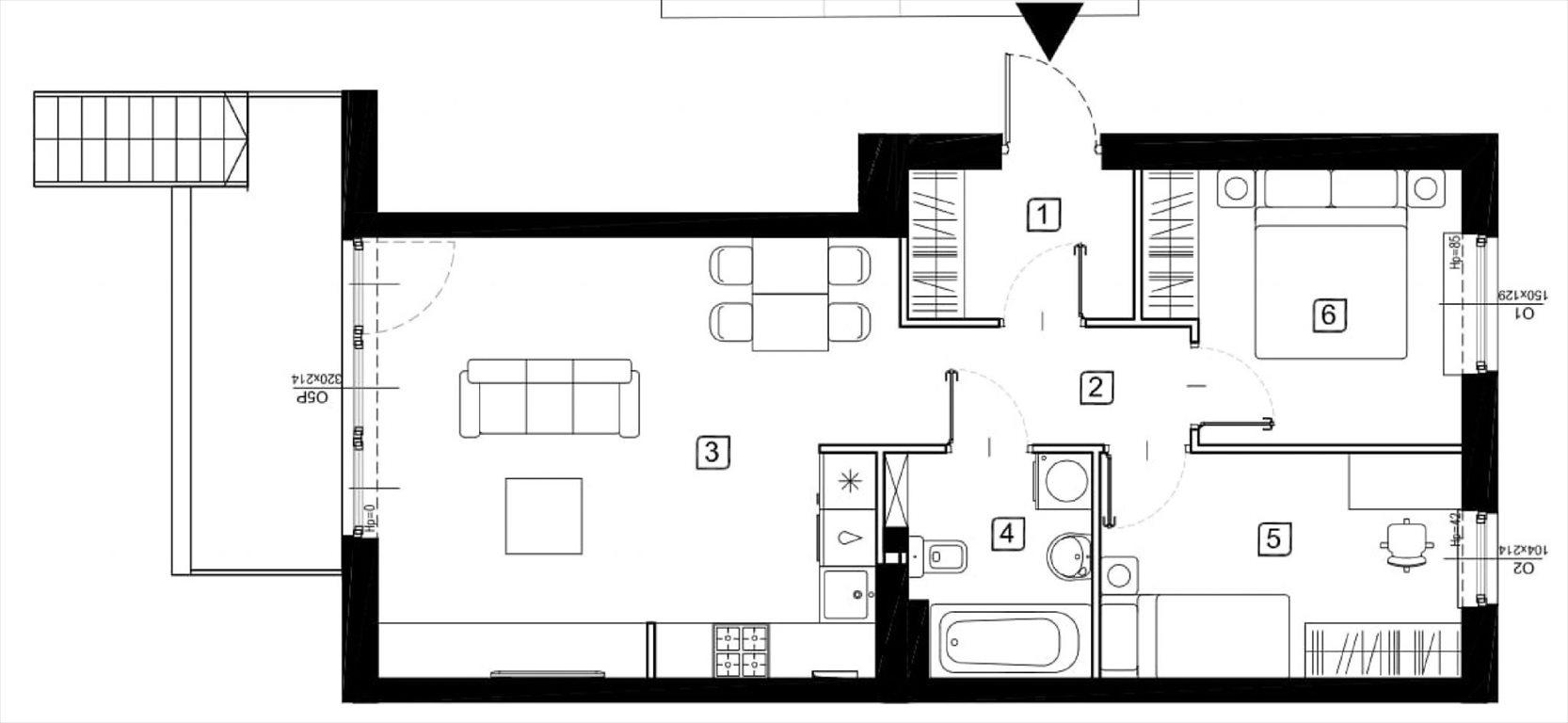 Mieszkanie trzypokojowe na sprzedaż Marki, Wesoła  58m2 Foto 4