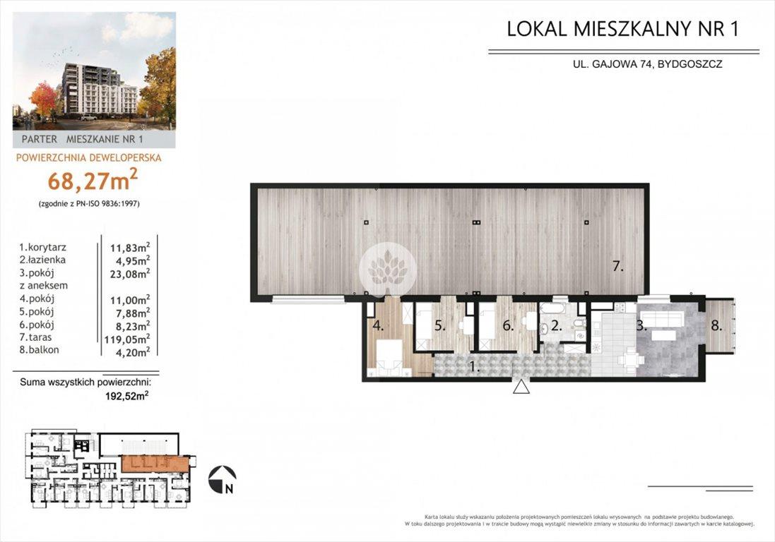 Mieszkanie czteropokojowe  na sprzedaż Bydgoszcz, Bartodzieje, Gajowa  68m2 Foto 3